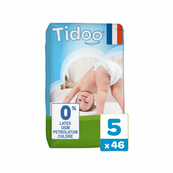 TIDOO 46 Couches Taille 5 XLarge (12/25kg)