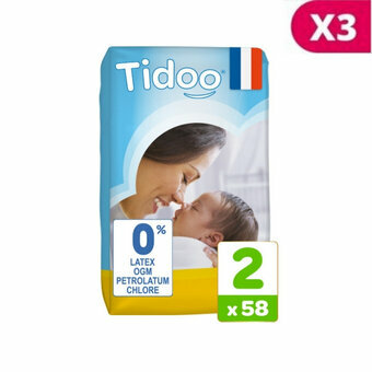 Tidoo 3x58 couches T2 / SMALL (3-6kg)