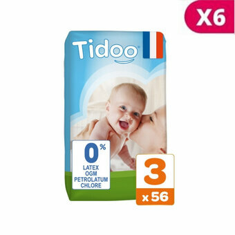 TIDOO 6x56 Couches Taille 3 Medium (4/9kg)