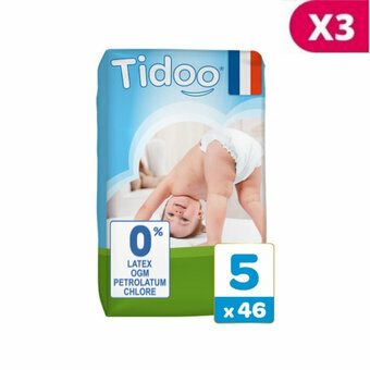 TIDOO 3x46 Couches Taille 5 XLarge (12/25kg)
