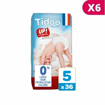 TIDOO 6x36 Culottes Taille 5 Large (12-18kg)