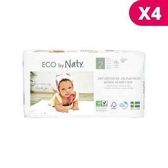 Naty 4 x 33 Couches éco Taille 2 - 3/6kg