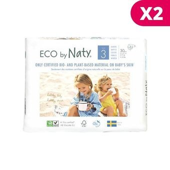 Naty 2 x 30 Couches éco Taille 3 - 4/9kg