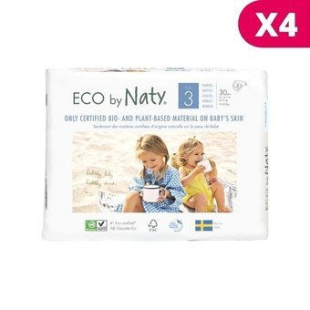 Naty 4 x 30 Couches éco Taille 3 - 4/9kg