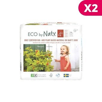 Naty 2x24 Couches éco Taille 4+ - 9/20kg