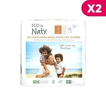 Naty 2x22 Couches éco Taille 5 - 11/25kg