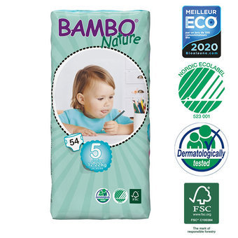 Bambo Nature 54 Couches Taille 5 (12-22kg)