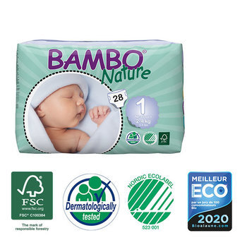 Bambo Nature 28 Couches Taille 1 (2-4kg)