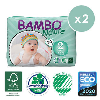 Bambo Nature 2x30 Couches T2 (3-6kg)