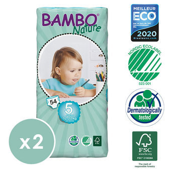 Bambo Nature 2x54 Couches Taille 5 (12-22kg)