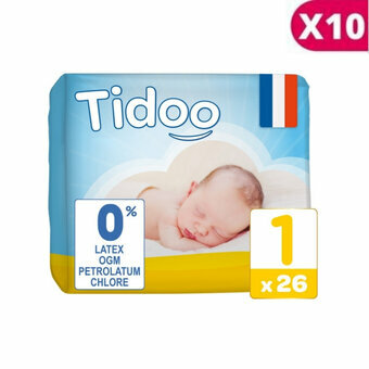 Tidoo 10x26 couches Taille 1 NEWBORN (2-5kg)