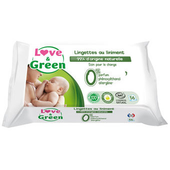Love & Green Lingettes au liniment