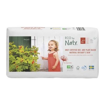 Naty 42 Couches éco Taille 4+ - 9/20kg