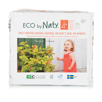Naty 24 Couches éco Taille 4+ - 9/20kg